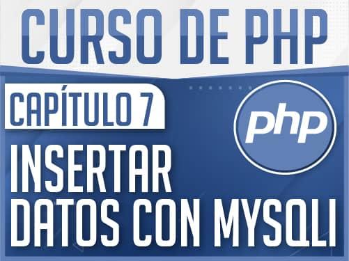 Curso de PHP Capítulo 7