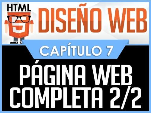 Curso Diseño Web HTML5 Capítulo 7