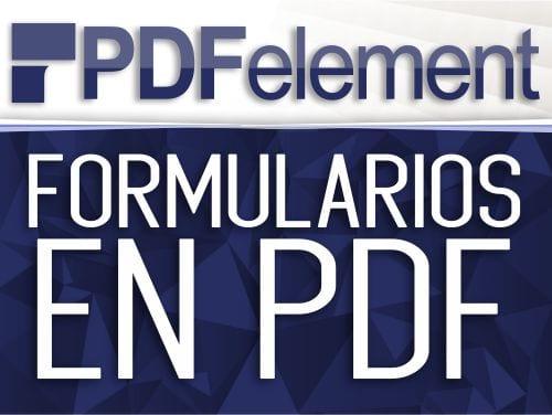 Crear, editar, exportar e impotar formularios de PDF