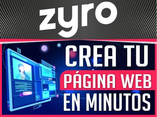 Crea tu página web con Zyro