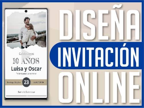 Diseña invitación online